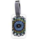 Rose Window Strasbourg Cathedral Luggage Tags (Two Sides) Back