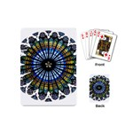 Rose Window Strasbourg Cathedral Playing Cards (Mini)  Back