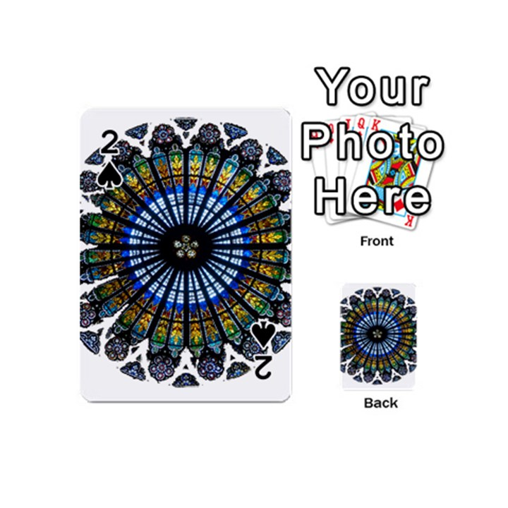 Rose Window Strasbourg Cathedral Playing Cards 54 (Mini)