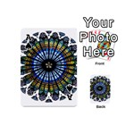 Rose Window Strasbourg Cathedral Playing Cards 54 (Mini)  Front - SpadeA