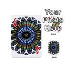 Rose Window Strasbourg Cathedral Playing Cards 54 (Mini)  Front - Heart6
