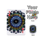 Rose Window Strasbourg Cathedral Playing Cards 54 (Mini)  Front - Diamond3