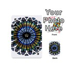 Rose Window Strasbourg Cathedral Playing Cards 54 (Mini)  Front - Spade5