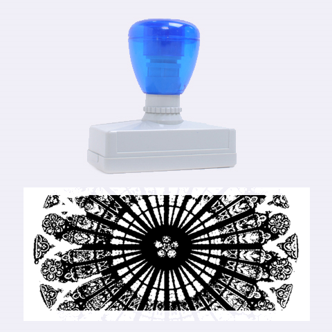 Rose Window Strasbourg Cathedral Rubber Stamps (Large)