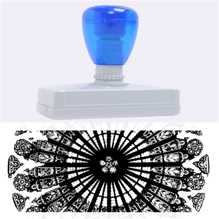 Rose Window Strasbourg Cathedral Rubber Address Stamps (XL)