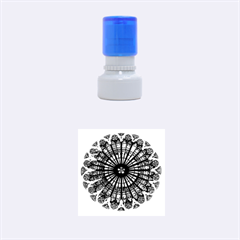 Rose Window Strasbourg Cathedral Rubber Round Stamps (Small)