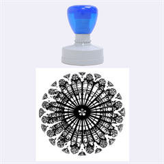 Rose Window Strasbourg Cathedral Rubber Round Stamps (Large)