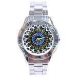 Rose Window Strasbourg Cathedral Stainless Steel Analogue Watch Front