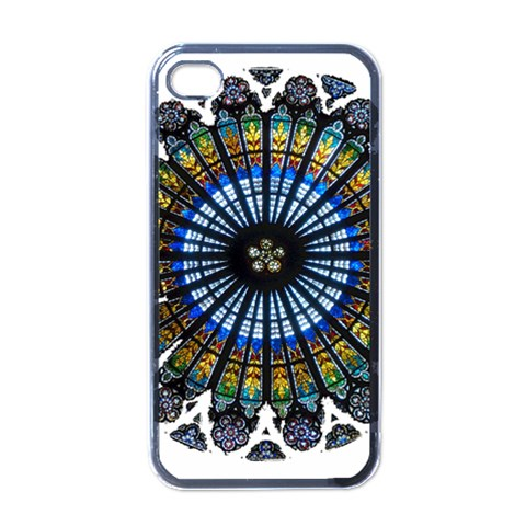 Rose Window Strasbourg Cathedral Apple iPhone 4 Case (Black)