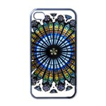 Rose Window Strasbourg Cathedral Apple iPhone 4 Case (Black) Front