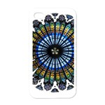 Rose Window Strasbourg Cathedral Apple iPhone 4 Case (White) Front