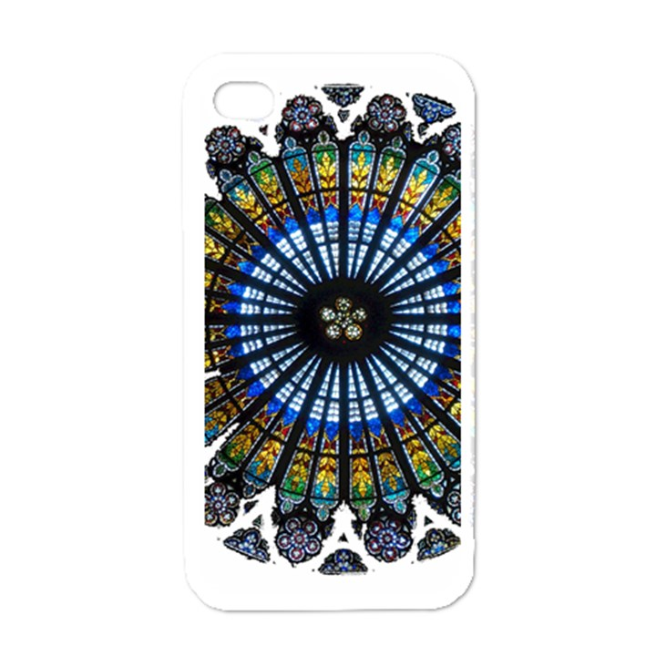 Rose Window Strasbourg Cathedral Apple iPhone 4 Case (White)