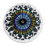 Rose Window Strasbourg Cathedral Round Filigree Ornament (2Side) Back