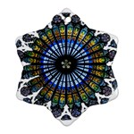 Rose Window Strasbourg Cathedral Snowflake Ornament (2-Side) Front