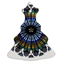Rose Window Strasbourg Cathedral Christmas Tree Ornament (2 Sides)