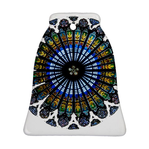 Rose Window Strasbourg Cathedral Bell Ornament (2 Sides)
