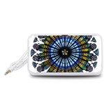 Rose Window Strasbourg Cathedral Portable Speaker (White)  Front