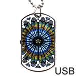 Rose Window Strasbourg Cathedral Dog Tag USB Flash (Two Sides)  Front