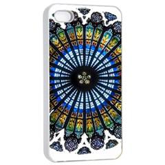 Rose Window Strasbourg Cathedral Apple iPhone 4/4s Seamless Case (White)