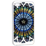 Rose Window Strasbourg Cathedral Apple iPhone 4/4s Seamless Case (White) Front