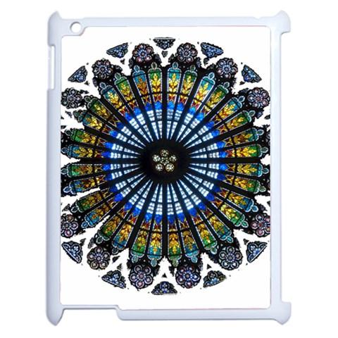 Rose Window Strasbourg Cathedral Apple iPad 2 Case (White)