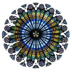 Rose Window Strasbourg Cathedral Happy Birthday 3D Greeting Card (8x4) Inside
