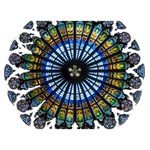 Rose Window Strasbourg Cathedral BOY 3D Greeting Card (7x5) Back