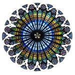 Rose Window Strasbourg Cathedral Twin Hearts 3D Greeting Card (8x4) Inside