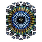 Rose Window Strasbourg Cathedral Peace Sign 3D Greeting Card (7x5) Inside