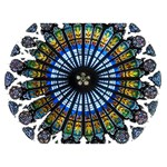 Rose Window Strasbourg Cathedral Peace Sign 3D Greeting Card (7x5) Back