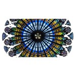 Rose Window Strasbourg Cathedral Happy New Year 3D Greeting Card (8x4) Back