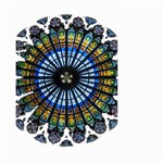 Rose Window Strasbourg Cathedral Small Garden Flag (Two Sides) Back