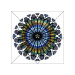 Rose Window Strasbourg Cathedral Acrylic Tangram Puzzle (4  x 4 ) Front