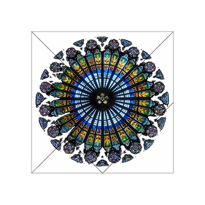 Rose Window Strasbourg Cathedral Acrylic Tangram Puzzle (4  x 4 )
