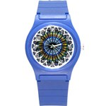 Rose Window Strasbourg Cathedral Round Plastic Sport Watch (S) Front