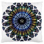 Rose Window Strasbourg Cathedral Large Cushion Case (Two Sides) Back