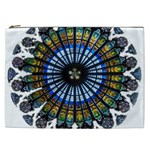 Rose Window Strasbourg Cathedral Cosmetic Bag (XXL)  Front