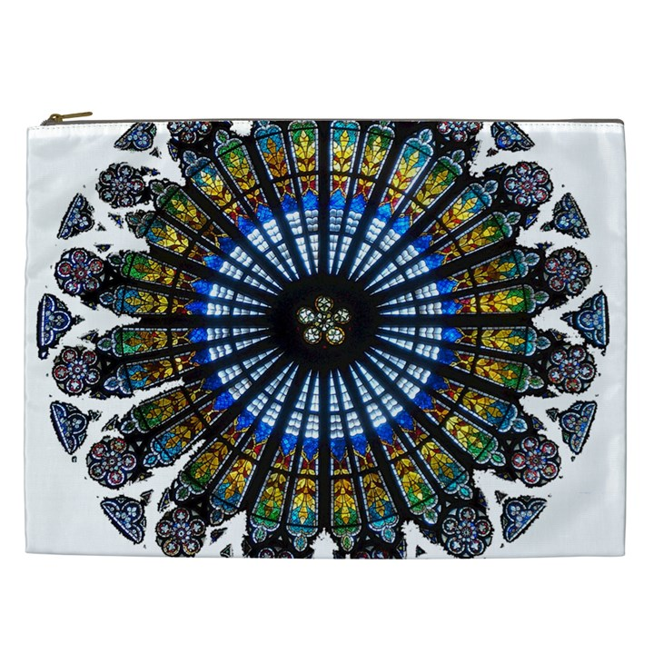 Rose Window Strasbourg Cathedral Cosmetic Bag (XXL)