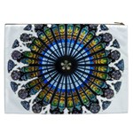 Rose Window Strasbourg Cathedral Cosmetic Bag (XXL)  Back