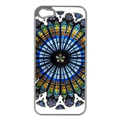 Rose Window Strasbourg Cathedral Apple iPhone 5 Case (Silver)