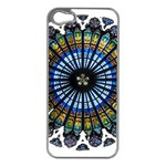 Rose Window Strasbourg Cathedral Apple iPhone 5 Case (Silver) Front