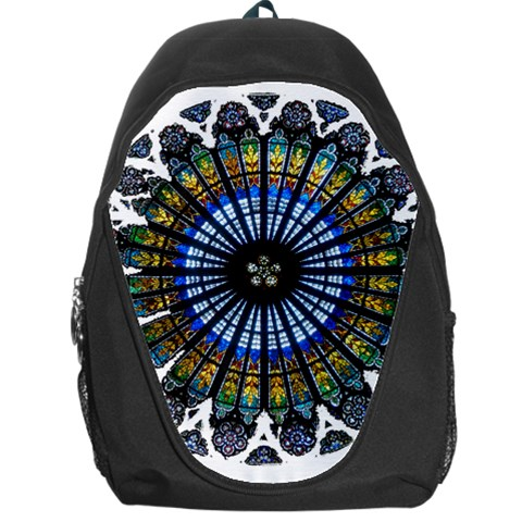 Rose Window Strasbourg Cathedral Backpack Bag