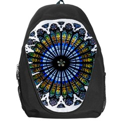 Rose Window Strasbourg Cathedral Backpack Bag