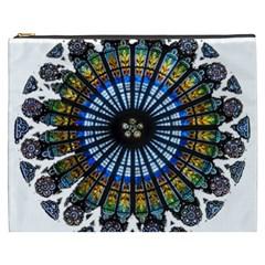 Rose Window Strasbourg Cathedral Cosmetic Bag (XXXL)