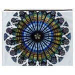 Rose Window Strasbourg Cathedral Cosmetic Bag (XXXL)  Front