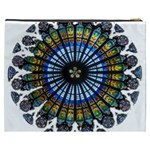 Rose Window Strasbourg Cathedral Cosmetic Bag (XXXL)  Back