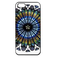Rose Window Strasbourg Cathedral Apple iPhone 5 Seamless Case (Black)