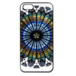 Rose Window Strasbourg Cathedral Apple iPhone 5 Seamless Case (Black) Front