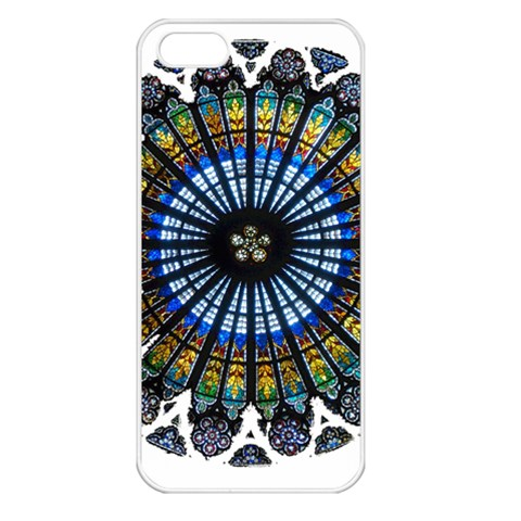 Rose Window Strasbourg Cathedral Apple iPhone 5 Seamless Case (White)