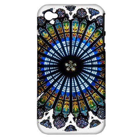 Rose Window Strasbourg Cathedral Apple iPhone 4/4S Hardshell Case (PC+Silicone)